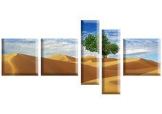 Tablou Desert 1925 Dimensiune: 3x 40x40 + 2x 20x70 cm Total: 160x80 cm Polaroid Film, Canvas, Modern, Canvases, Toile, Burlap