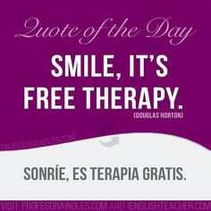#smile #therapy #free #positive #positivequotes #English #Learn #LearnEnglish