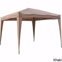 Marvelous Portable EZ Canopy Tent Gazebo Khaki Instant Outdoor Shelter Beach Steel  Metal #