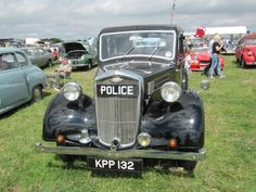 Wolseley police car at Purbeck autojumble