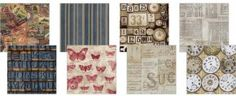"""Tim Holtz Eclectic Elements Fabric Squares - 12x12"""" - Labels for scrapbooking, craft, DIY and home decor."""