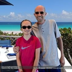 Yah Mon!  Jerry and Lauren chill in the Bahamas wearing their new Kame ManNen and Ray-Ban sunglasses.  Eye Candy … it's a Bahamian ting!  Be who you want to be at Eye Candy Optical!  www.eye-candy-optical.com