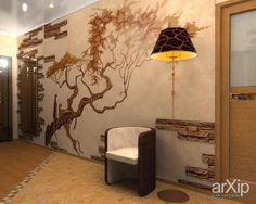 Landscaping and Interior Decoration: Tree Wallpaper on Different Rooms