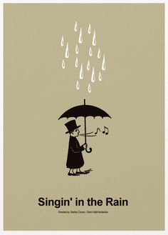 Singing In The Rain - Classic Movie Poster A3 Print. $18.00, via Etsy.