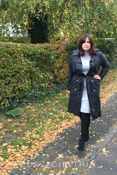 Plus Size Military Trench Coat by Elvi Clothing*