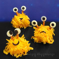 These Mini Monster Cheese Balls and Cake Ball Monsters are the cutest Halloween treats you can make! One is savory and one is sweet...