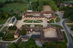 """Haras national du Pin - one of the oldest horse studs in France, the stables and castle were built during the reign of Louis XV , between 1715 and 1730. The writer Jean de La Varende nicknamed it the """"Versailles of the Horse"""". Still in service, the stud belongs to the state and continues research on genetic breeding of horses."""