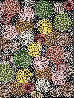 Australian Textiles.. Dancing Flowers black
