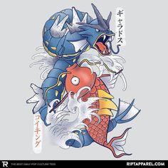 Koi Fish Evolution T-Shirt - Pokemon T-Shirt is $11 today at Ript!