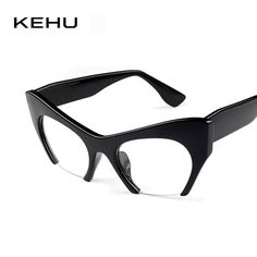 Cheap frame eyeglasses, Buy Quality eye glasses frames directly from China cat eye glasses frames Suppliers: KEHU New Women Semi-Rimless Goggles Anti Fatigue Radiation resistant Cat Eye Glasses Frame Eyeglasses vintage Cat Eye Sunglasses Cool Glasses, Cat Eye Glasses, Glasses Frames, Anti Fatigue, Rimless Glasses, Boutique, Eyeglasses, Eyewear, Women Accessories