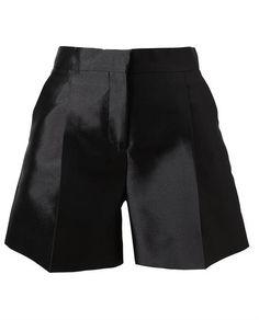 Valentino Tailored Silk Shorts in Black - Lyst