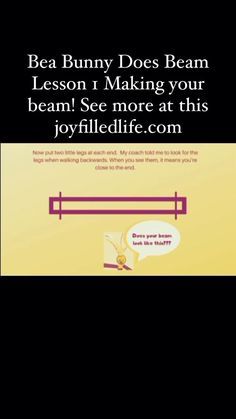 Balance, jump, hop and cartwheel along with Bea Bunny and Coach Joy in this fun read along and video series! Make your own DIY beam to practice and even learn to make your own Bea Bunny! Have hours of fun and exercise while perfecting your gymnastics skills! Gymnastics Warm Ups, Gymnastics At Home, Gymnastics Lessons, Gymnastics Stretches, Gymnastics Equipment, Gymnastics Workout, Summer Activities For Kids, Indoor Activities, Sensory Activities