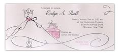 Personalization Wizard for Card: Shimmer Soirée Bridal Shower Invitation