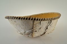 Round Birch Bark Basket Artist Verda Paul... Dimensions: 14x11x5... $65... Large birch bark basket in an round shape with birch root weaving around the edging.