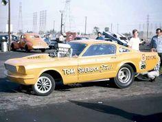Tom Sherlock's very altered wheelbase Ford Mustang gasser