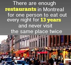 Funny pictures about The Restaurant City. Oh, and cool pics about The Restaurant City. Also, The Restaurant City photos. Best Funny Pictures, Funny Photos, Funny Images, Random Pictures, Wtf Fun Facts, True Facts, Random Facts, Random Trivia, Quebec Montreal