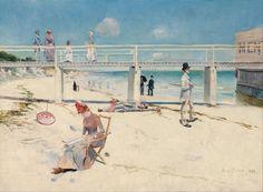 Charles Conder - A holiday at Mentone - 1888