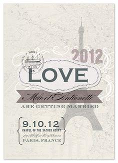 Paris theme wedding invite