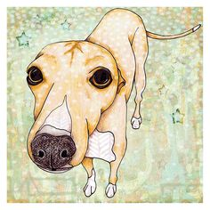 Marmont Hill Greyhound Painting Print on Wrapped Canvas - MH-STGRC-18-C-18