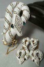 Vintage Trifari SNAKE Bracelet Earring SET 1968 Garden of Eden Philippe Figural