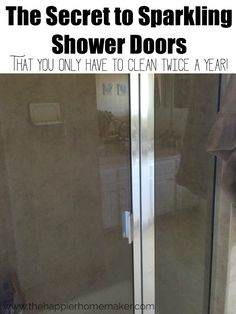 1000 ideas about cleaning shower doors on pinterest - Wd40 on glass shower doors ...