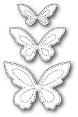 Poppystamps Craft Die – Stitched Butterfly Trio - Home Decor Ideas Butterfly Quilt, Butterfly Drawing, Butterfly Template, Butterfly Crafts, Flower Template, Crown Template, Butterfly Mobile, Heart Template, Felt Crafts