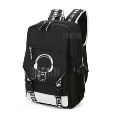 Travel Backpack -  30.28 Fashionable Luminous Backpack Rechargeable Travel  Bag - BLACK  Travel 0eb2a9d4fa038