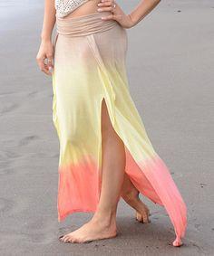 Another great find on #zulily! Sunset Slit Maxi Skirt by Jayli #zulilyfinds