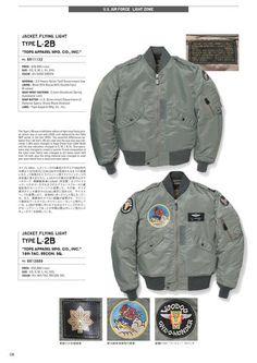 1993年にスタートし、20年以上にわたりヴィンテージミリタリーウェアの魅力を忠実に再現し続けているブランド、BUZZ RICKSON'S(バズリクソンズ)の公式カタログページ Navy Jacket, Jacket Style, Buzz Rickson's, Nose Art, Bomber Jackets, Fashion Wear, Gears, Military Jacket, Fall Winter