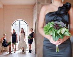 loved Amber's choice for bridesmaids bouquets and dresses