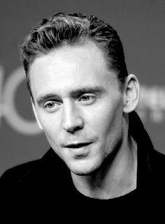 Lola is living la vida Loki — lolawashere: Tom Hiddleston, B/W, zoomed in and...