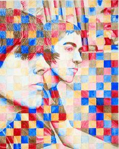 Portfolio Prep - grade: Grid Portrait in watercolor using a limited palette. Painting Lessons, Art Lessons, Art Projects, Projects To Try, School Painting, Pointillism, Art Education, High School, Palette