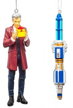 Twelfth Doctor and Blue Sonic Screwdriver Ornament Box Set @DoctorWhoShop