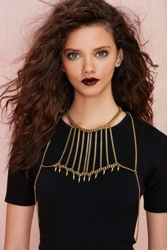 Biko Adorned Body Chain | Shop Body Chains at Nasty Gal. I wud wear this over a strapless dress