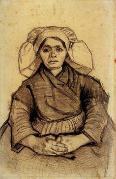 Vrouwenportret, door Vincent van Gogh, 1885