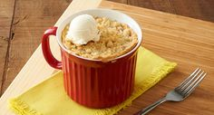 Crumbly French Apple Pie In A Mug recipe - This streusel-topped sweet apple pie brings that fresh-from-the-orchard taste right to your table—full of cinnamon and fresh apples, and finished off with an irresistible brown sugar crumble.