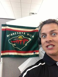 Twitter fan @ADomaas is representing his Wild at the office all summer long. #IsItOctoberYet