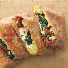 Crispy Mediterranean Breakfast Wrap.