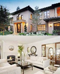 The front and interior of Kim's house. Basically my dream home
