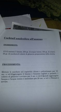 cocktail analcolico all'ananas Bimby