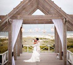 Perfect setting. Shoals Club of Bald Head Island NC •wedding