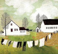 Poblado Amish ,ropa tendida