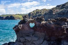 Where to find this heart-shaped hole in the rocks.