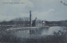 Pumping station from across Long pond 1910.