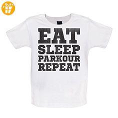 Eat Sleep Parkour REPEAT - Baby T-Shirt - Weiß - 18 bis 24 Monate (*Partner-Link)