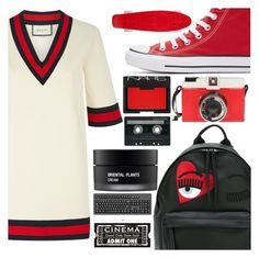 """""""What you said to me made my day"""" by floralandmay ❤ liked on Polyvore featuring Gucci, Chiara Ferragni, Converse, Edition, NARS Cosmetics, CASSETTE, Koh Gen Do and WALL"""