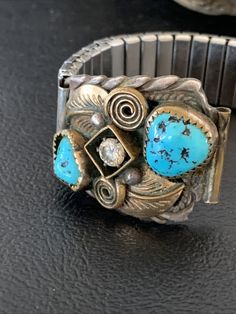 Native American Jewelry, Turquoise Stone, Silver Metal, Navajo, Watch Bands, Free Gifts, Turquoise Bracelet, United States, Watches