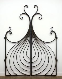 Lyrical Onion gate by Champlain Metals. via the Vermont ornamental iron work studio's site