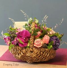 Flower basket  by  Tempting Tulips