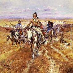 Charles Marion Russell painting of Native American Indians